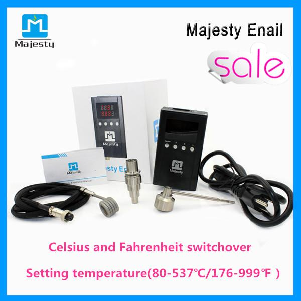 Majesty Portable Enail Dnail Kit with coil heater Titanium Nail Carb Cap DIY Electric Nail Dab For Oil Rig
