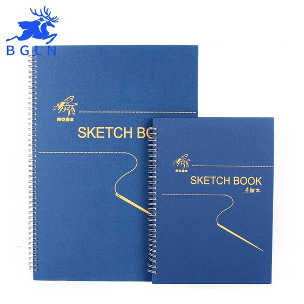 Wholesale- Bgln 8K 16K 160g Sketch Paper 32 Sheets Sketch Paper For Drawing Painting Sketch Book Art Supplies Student Stationery