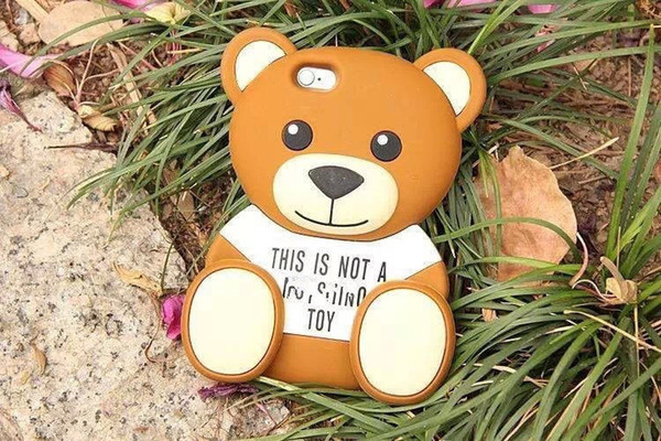 Cartoon 3D Toy Silicon e Back Cover Case for iPhone 5 G 5S bear Free shopping