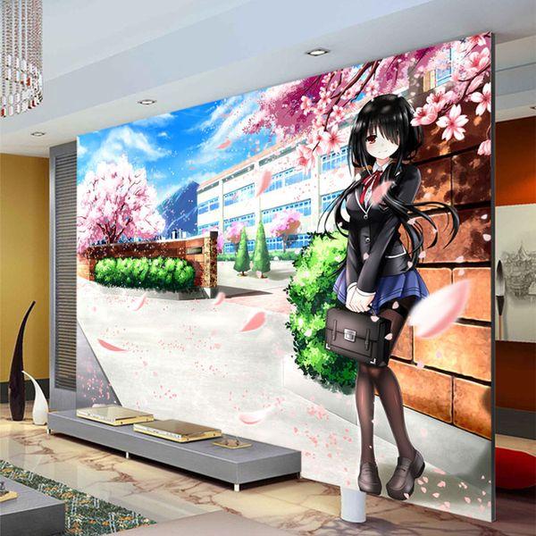 Custom 3D Photo Wallpaper Japanese Anime Fate Stay Night Wall Murals Kids Girl Bedroom Living