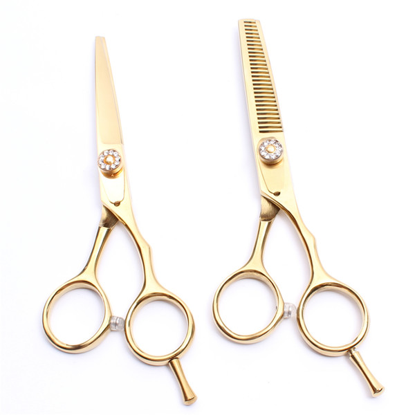 "C1020 5.5"" Japan Steel Customized Logo Laser Professional Human Hair Scissors Barbers' Scissors Cutting Thinning Scissors Salon Style Tools"