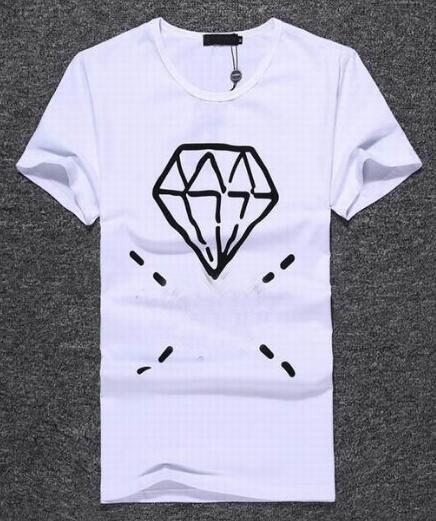 Marca presente dos homens de algodão t-shirts de impressão de diamante de alta qualidade tshirt verão t-shirt dos homens marca clothing tees
