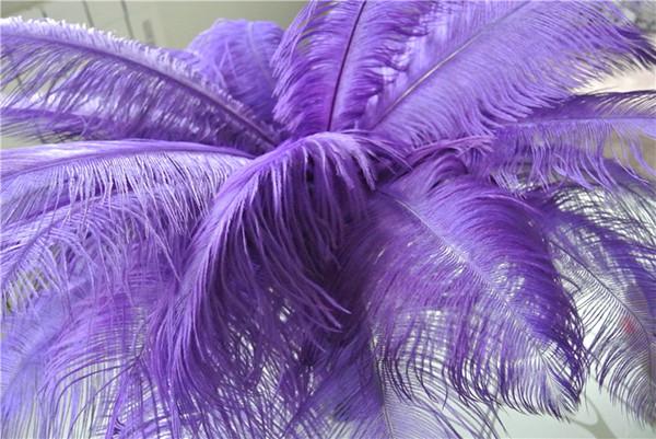 Commercio all'ingrosso 100 pz 14-16 pollici viola piuma di struzzo plume per centrotavola di nozze Wedding decoraction centrotavola del partito