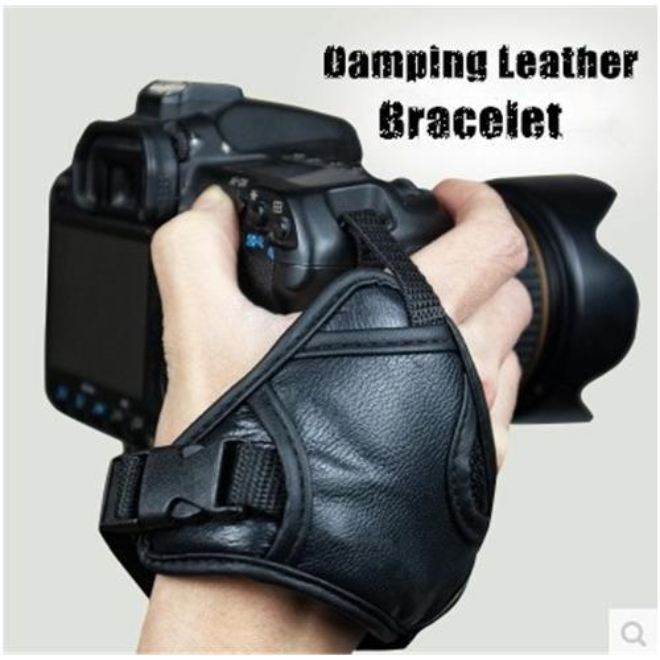 High Quality Leather Soft Hand Grip Wrist Strap Black for Nikon Canon Sony SLR/DSLR Camera