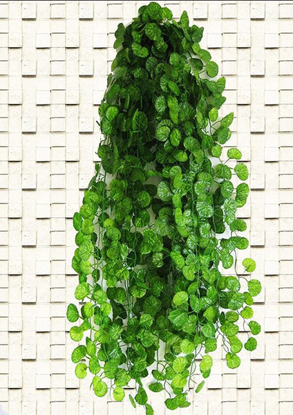 Flower 210cm Ft Long Artificial Plants Green Ivy Leaves Artificial Grape Vine Fake Leaves Home Wedding Decoration Garland