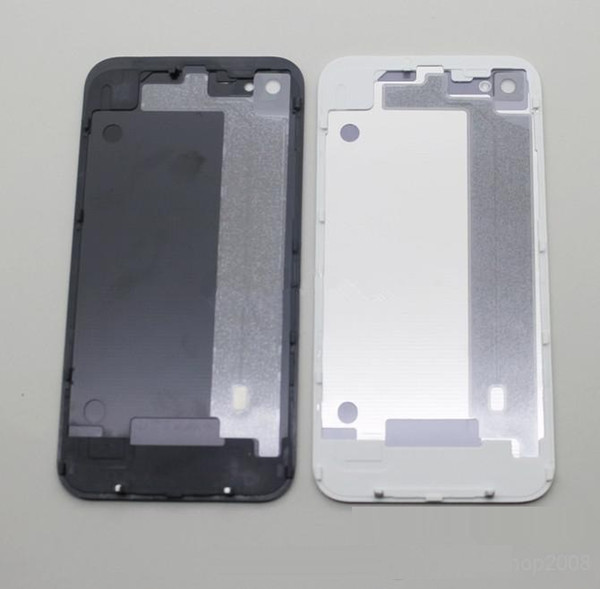 Back Glass Battery Housing Door Cover Replacement Part GSM for iphone 4/4S Black White Color 500pcs/lot
