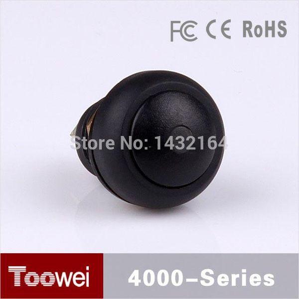 50 adet 12mm küçük basma düğmesi ON-OFF Mandallama kırmızı / Yeşil LED Su Geçirmez IP67