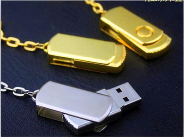 50pcs DHL 100% Real Capacity 2GB 4GB 8GB 16GB 32GB 64GB 128GB 256GB USB Flash Drive Memory Stick Metal with OPP Packaging