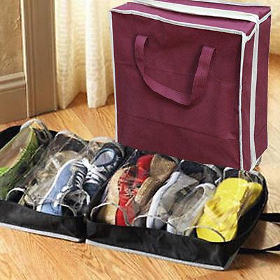 Wholesale- Portable Folding Shoes Storage Bag Travel Tote Zipper Pouch Ventilation Folding Portable Gym Waterproof Organizer