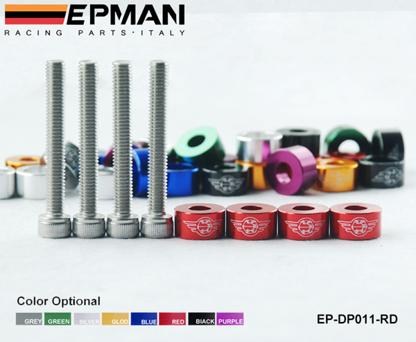 top popular EPMAN - racing 6 mm Metric Cup Washer Kit (Cam Cap   B-Series) Red, Black, Silver, Blue,Purple,Green,Gray EP-DP011 2020