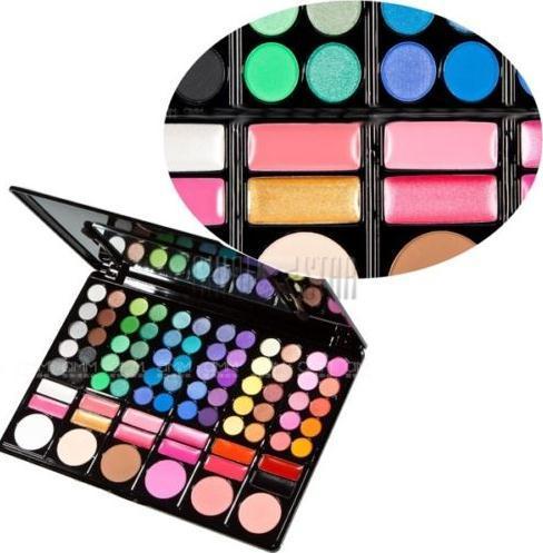 Pro 78 Farbe Make-up Lidschatten Pigment Rouge Palette Lidschatten Cheek Blush Pressed Powder Lipgloss Werkzeuge Kit Drop Shipping