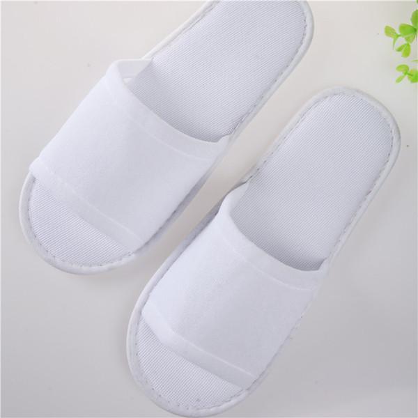 Pantofole usa e getta bianche Adulti non antiscivolo bagno Babouche colore solido confortevole morbido Baboosh per hotel vendita calda 1ty B
