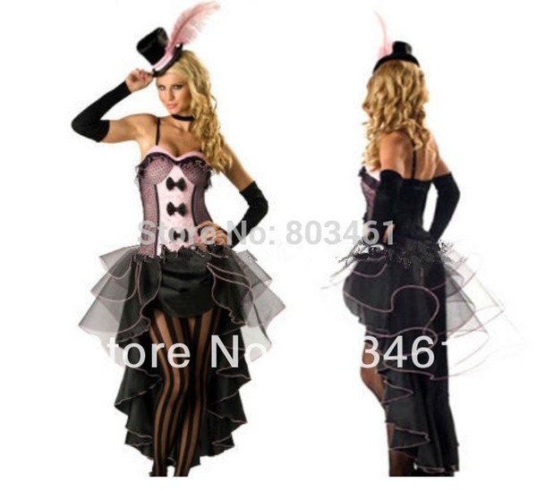 top popular sexy Plus Size Costumes Adult Party Costume Burlesque Babe Adult Costume Pink H39123P 2019