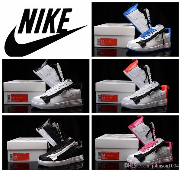 Nike Air Lunar Force de 1 SP Acronyme noir blanc chaussures de skate en  cuir pour