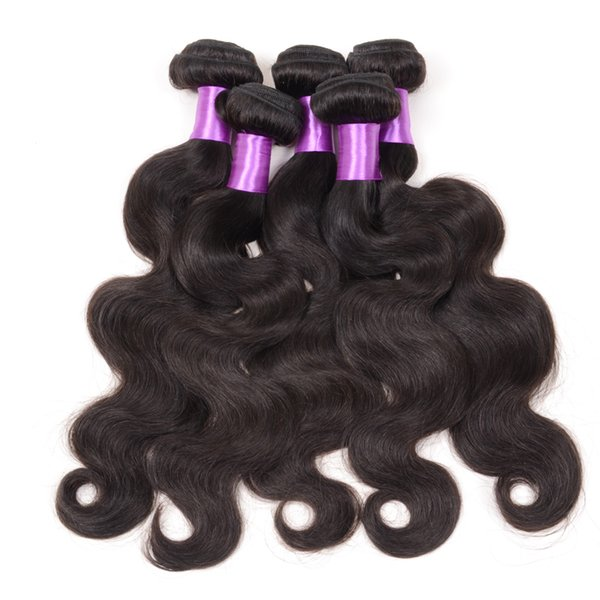 5pcs Brazilian Body Wave hair weft Grade 7A Unprocessed Can Be Dyed Hair Weave Brazilian Malaysian Peruvian Indian Remy Human Hair Extension