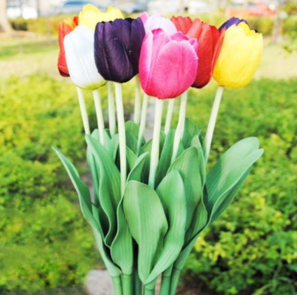Acheter Fleur Artificielle Une Variété De Couleur Imitation Fleur Tulip  Décoration De Table De Jardin De Jardin Arrangement De Fleurs De Mariage ...