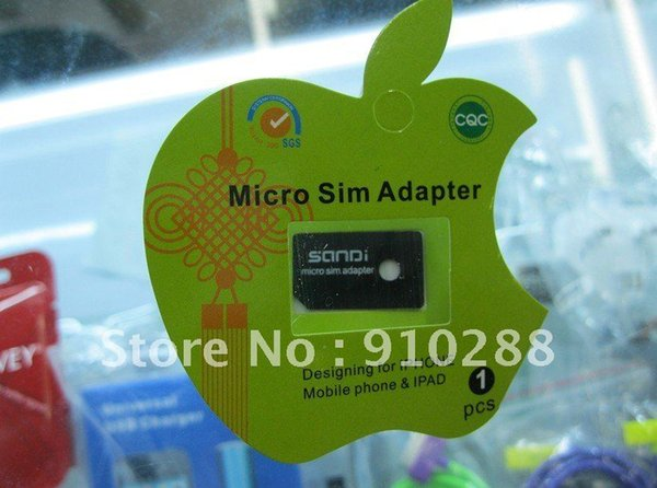 Wholesale-1000pcs/lot Replacement Micro Sim Card Tray Holder Slot Adapter for iphone 4 4G 4S In Retail Packaging package