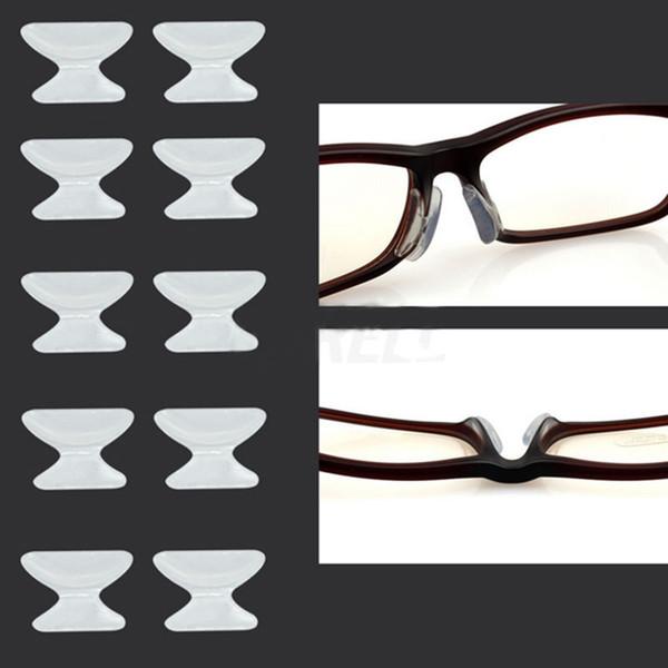 Coussin nasal en silicone souple gros-utile 5pairs antidérapant pour lunettes Lunettes lunettes de soleil livraison gratuite