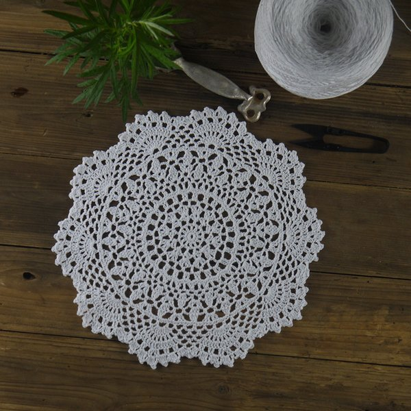 Handmade Crocheted Doilies Table Napkin pad Round Vintage Doilies wedding home decoration 10PC Coasters 28cm/11