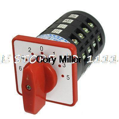best selling AC 500V 5A on off on Rotary Cam Universal Changeover Switch LW6-4 F525 1 order<$18no track