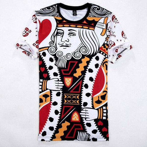 w1215 Raisevern 2015 new summer 3D t shirt Playing cards King print 3d t-shirt men/women harajuku tee shirt clothes camisa tops
