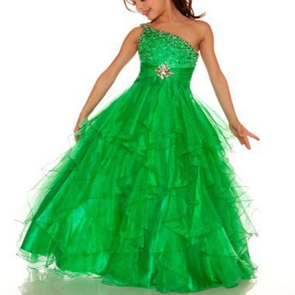 One Ball Gown Floor-Length Net Baby Girl Birthday Party Christmas Princess Dresses Children Girl Party Dresses Flower Girl