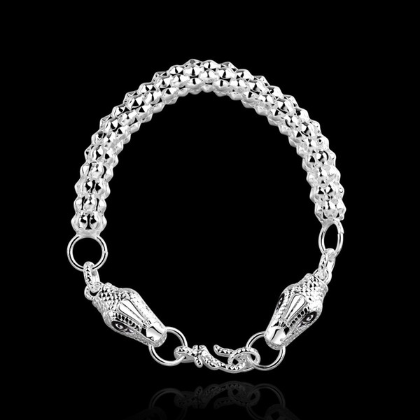 Men's Jewelry Dragon bracelets bangles 925 sterling silver chains 8'' H355 gift box New styles