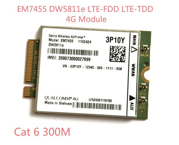 top popular Freeshipping EM7455 DW5811E PN 3P10Y FDD TDD LTE CAT6 4G Module 4G Card for E7270 E7470 E7370 E5570 E5470 2021