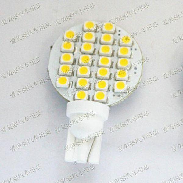 best selling Free shipping!! 20pcs T10 LED light 194 168 W5W 24 SMD 3528 1210 24LED Interior Led Width Lamp Car Side Light Bulb