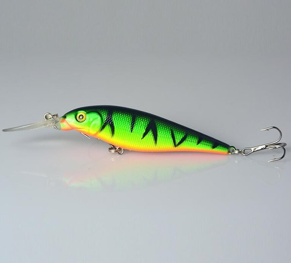 4#hook Hard Bait Minnow Fishing lures Bass Fresh Salt water 10PCS Super Quality 5 Colors 11cm 10.5g