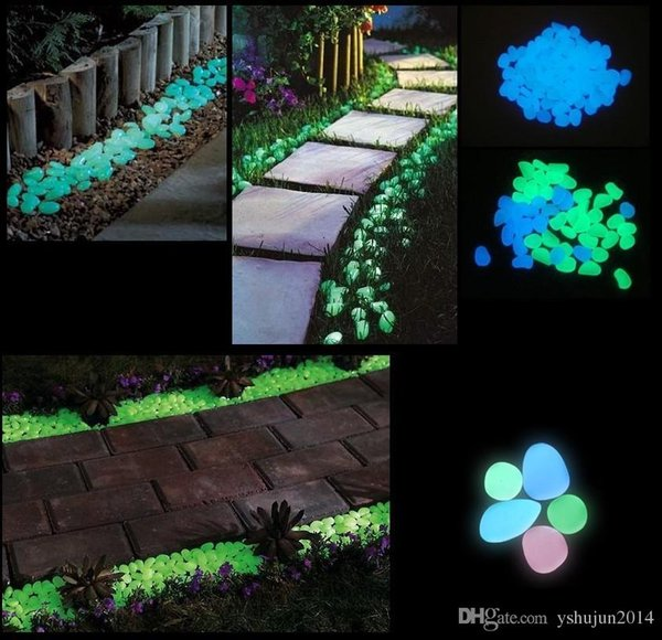 Newest Decorative Gravel For Your Fantastic Garden or Yard Glow in the Dark Pebbles Stones for Walkway Blue
