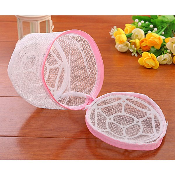 Wholesale- Bra Underwear Wash Bags Laundry Home Storage Bags Bras Nylon Cylinder Bags Protect Clothes Mesh Bathroom Storage Container Cases