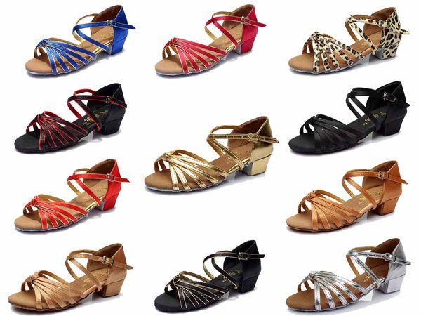 New Fashion Comfortabl Ballroom Latin Tango Dance Shoes For Girl Children 602