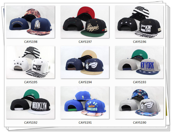best selling Snapback Hats Cap Cayler & Sons Snapbacks teams Baseball casual Caps Hat Adjustable size High Quality Free Shipping By DHL Or EMS