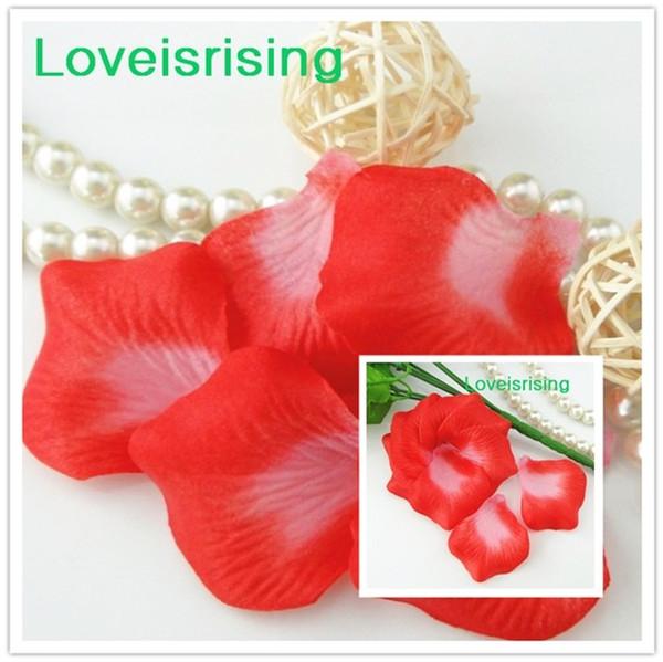 Frete Grátis - 10 packs (1440 pcs) RedWhite Não-Tecido Artificial Rose Flor Pétala Para O Partido Do Casamento Favor Decoração