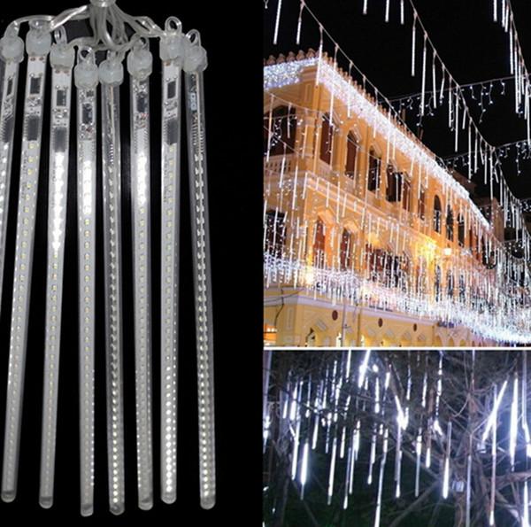 30cm/50cm/80cm Waterproof LED Light Snowfall Meteor Rain Lights Led Tube SMD2835 Xmas Light 10pcs/Set Christmas Outdoor Decoration