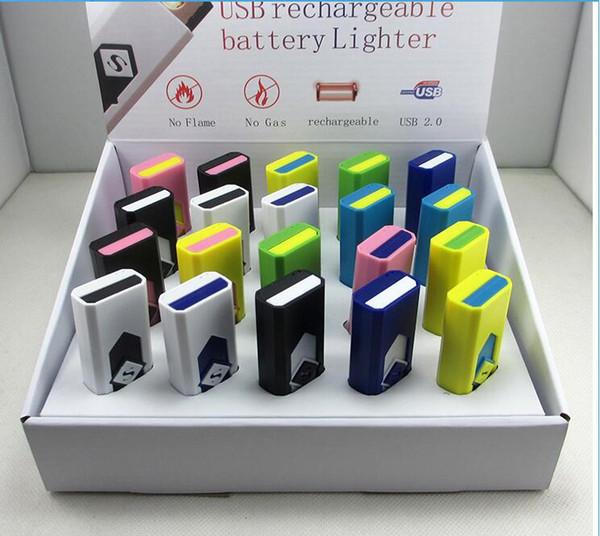 Accendisigari USB ricaricabili accendisigari Accendino elettronico senza fiamma senza gas combustibile ABS ritardante di fiamma in plastica