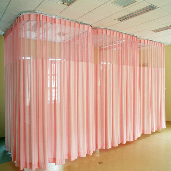 best selling Free Shipping Hospital Fireproof Solid Color Curtains Room Divider Curtain For Beauty Shop  Welfare Homes