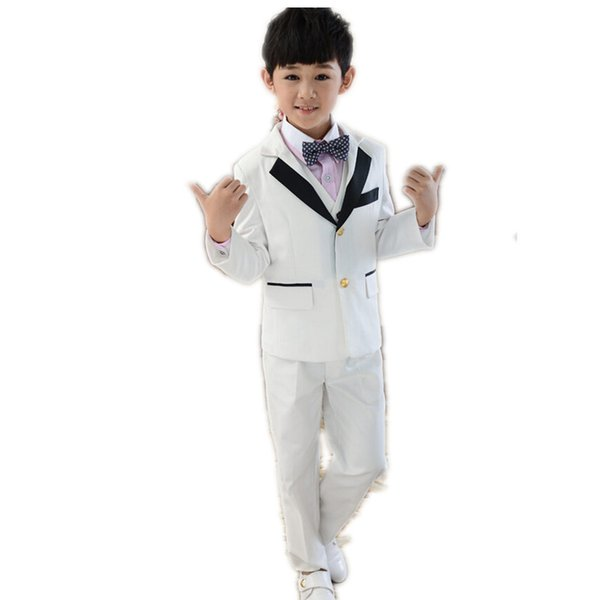Little boys formal occasion suits three-piece boys suits for wedding fashion two button boys suits tuxedos(jacket+pants+vest)