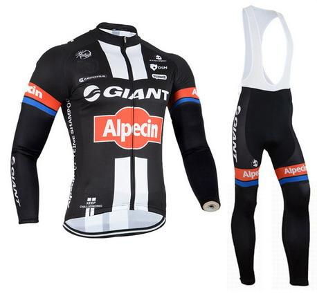 SPRING CYCLING LONG JERSEY ROPA CICLISMO+BIB PANTS 2015 GIANT ALPECIN PRO TEAM BLACK 3D GEL PAD-PICK SIZE:XS-4XL