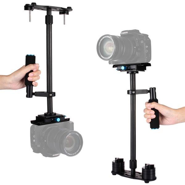 Freeshipping Professional Portable Carbon Fiber Tube Mini Handheld Camera Stabilizer DSLR Camcorder Video Stabilizing Steadicam