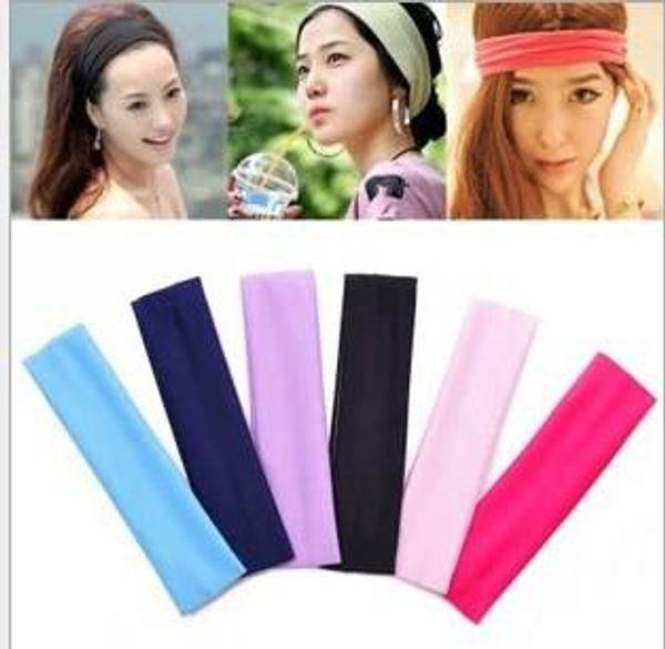 Pañuelos de moda para mujer 6 colores venda elástica deportes yoga banda para el pelo sudor cabeza abrigo unisex bandanas elásticas de alta