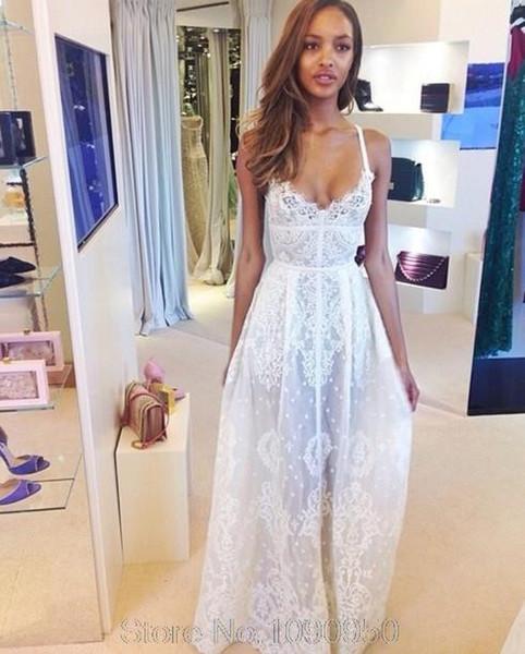 Großhandel Neu 2014 Sommer Details Über Womens Lace Kleid Weiß Lange ...