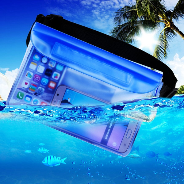 Premium Waterproof Phone Pouch Bag with Waist Shoulder Strap Underwater Dry Bag for iphone 6S Plus for Samsung Galaxy Note 5 /S7