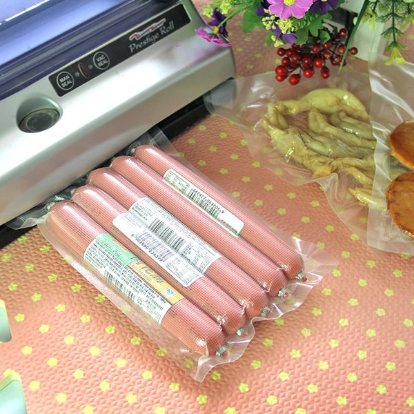 12 Size 100Pcs/Lot Open Top Vacuum Plastic Pouch For Vegetables Bean Heat Seal Embossed PE Bag