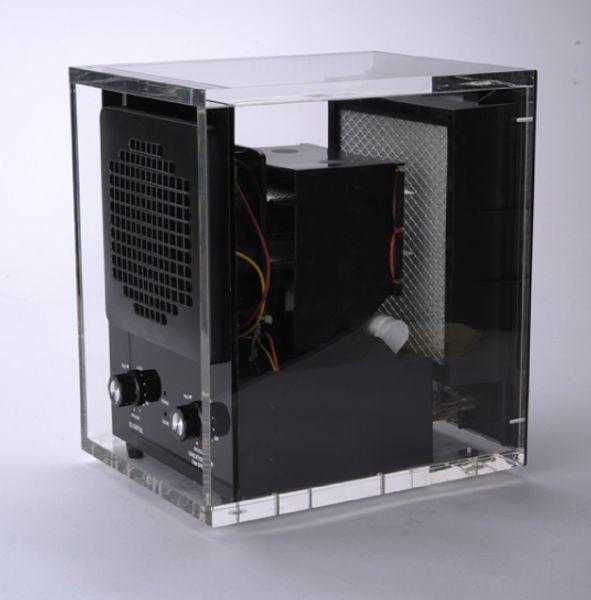 Purificador de aire Electrodomésticos Mini filtro de aire (filtro HEPA + filtro de carbón + filtro foto-catalítico + luz UV + ionizador + ozono) HE-223AC (Acrílico)