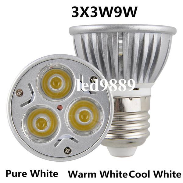 CREE GU10 de alta potencia (E27 / E14 / MR16 / GU5.3) Lámpara LED 9WLight Bombilla LED Downlight Cálido / Frío Blanco, Envío gratis