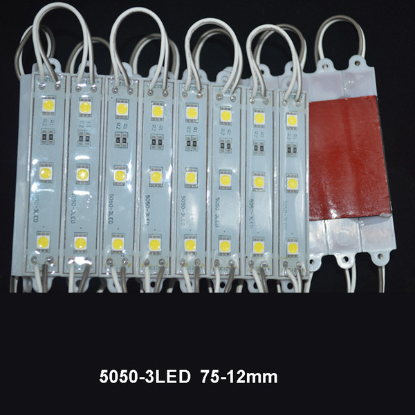 top popular SMD 5050 LED Modules Waterproof IP65 Led Modules DC 12V SMD 3 Leds Sign Led Backlights For Channel Letters Cool White Red Blue 2019