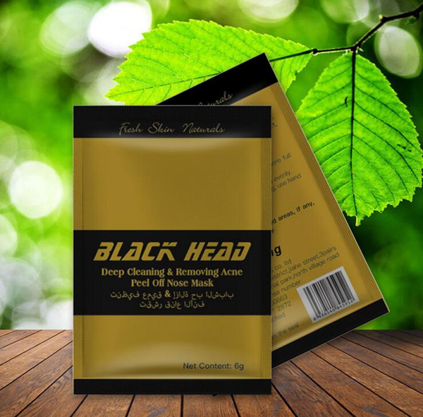 DHL Free shipping Gold Color Facial Minerals Conk Nose Blackhead Deep cleaning Removing Acne Peel Off Nose mask Black Head EX Pore Strip
