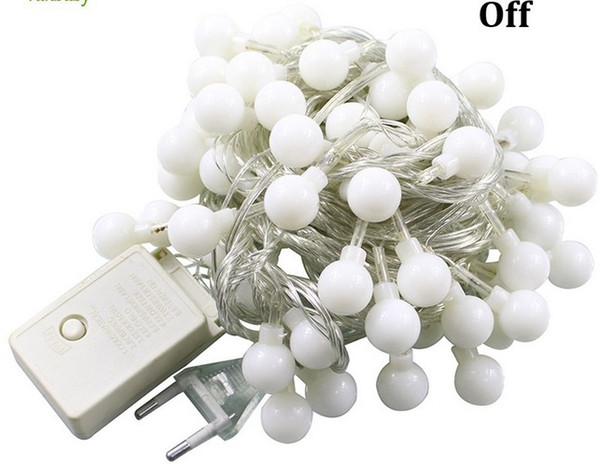 Multicolor Ball LED String Außenleuchten 10M LED Seil Ball Weihnachtsferien Party Girlanden Licht / Hochzeit 110V 220V IP65 100LED